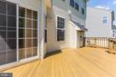 Large deck with built in speakers - 18911 MIATA LN, TRIANGLE