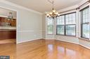 Large dining room with bay windows - 18911 MIATA LN, TRIANGLE