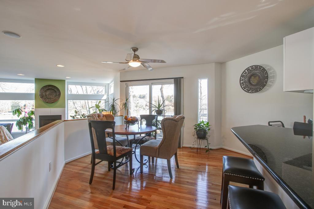 Dining Area opens to the Deck - 2258 COMPASS POINT LN, RESTON