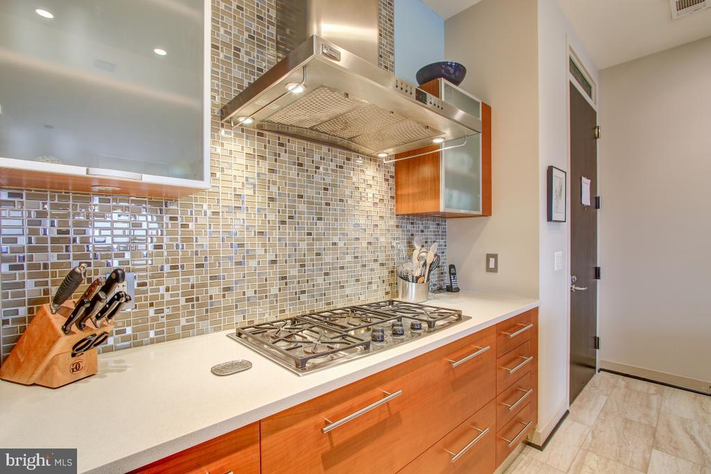 Glass tile backsplash & gas cooking! - 12025 NEW DOMINION PKWY #302, RESTON