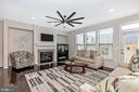 Large living room with marble fireplace - 2921 MILL ISLAND PKWY, FREDERICK