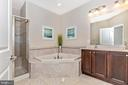Master bathroom with soaking tub and shower - 2921 MILL ISLAND PKWY, FREDERICK