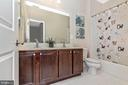Hall bathroom - 2921 MILL ISLAND PKWY, FREDERICK