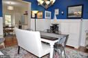 Dining room with wainscoting - 38834 LIME KILN RD, LEESBURG