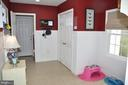Mudroom with wainscoting - 38834 LIME KILN RD, LEESBURG