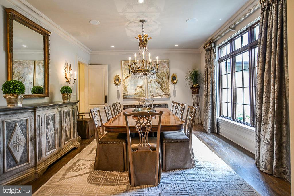 Formal Dining Room Featuring Heavy Moldings - 6126 FRANKLIN PARK RD, MCLEAN