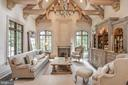 Artisan Beamed Ceiling in Family Room - 6126 FRANKLIN PARK RD, MCLEAN