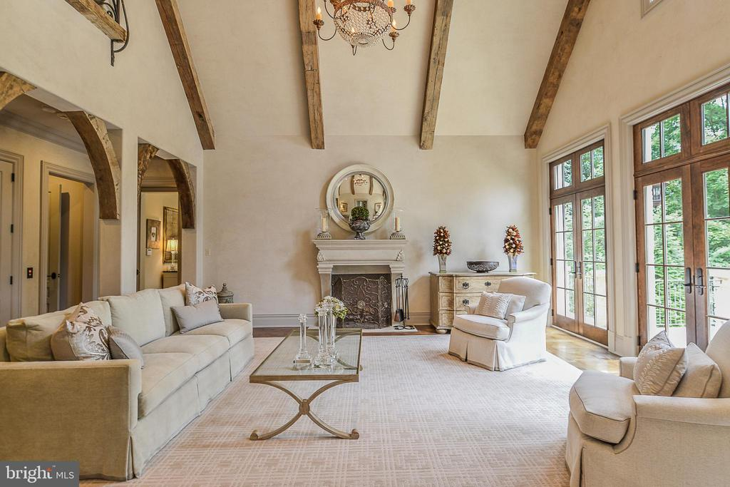 Cast Stone Fireplace & 20 Ft Vaulted Ceilings - 6126 FRANKLIN PARK RD, MCLEAN