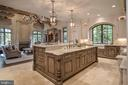 Travertine Floor, Limestone Backsplash, 3