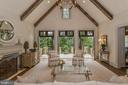 Hand Hewn Beams & 3 French Doors in Great Room - 6126 FRANKLIN PARK RD, MCLEAN