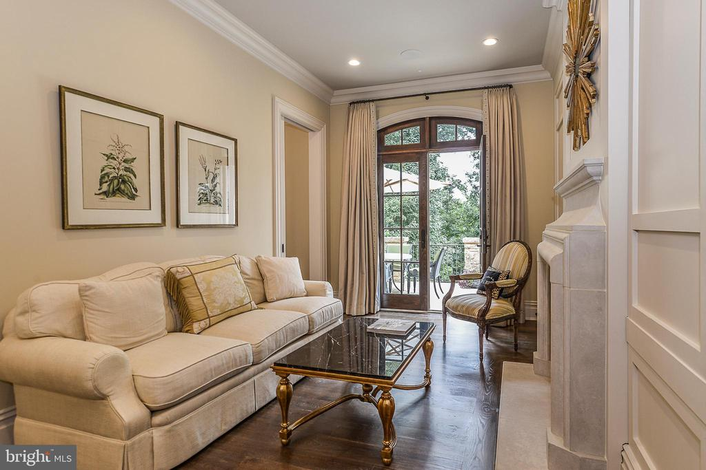 Master Sitting Room with Heavy Moldings - 6126 FRANKLIN PARK RD, MCLEAN