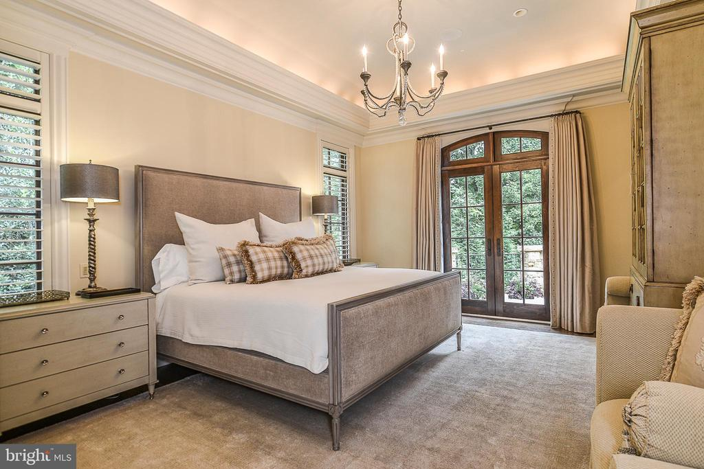 First Floor Master Suite with Access to Terrace - 6126 FRANKLIN PARK RD, MCLEAN