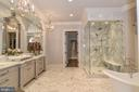Spa Master Bath with Heated Floors - 6126 FRANKLIN PARK RD, MCLEAN