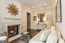 Cast Stone Fireplace & Hidden Wet Bar - 6126 FRANKLIN PARK RD, MCLEAN