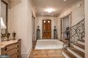 Hand Carved Pennsylvania White Oak Front Doors - 6126 FRANKLIN PARK RD, MCLEAN