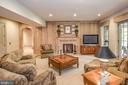 Extensive Oak Woodwork in Sunlit Recreation Room - 6126 FRANKLIN PARK RD, MCLEAN