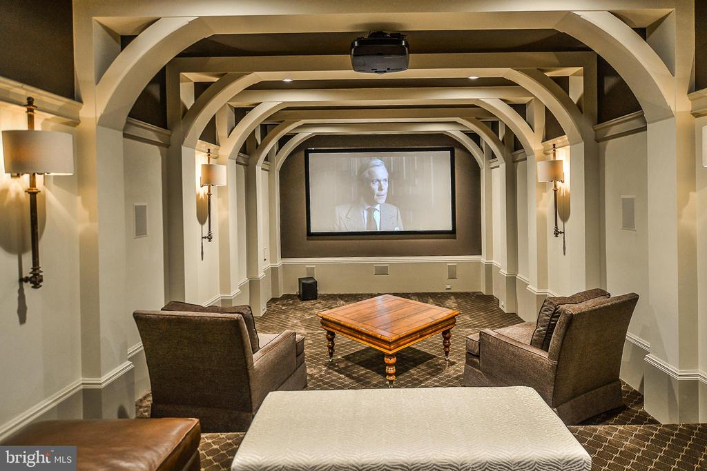 State Of The Art Home Theatre w/ 11 FT Screen - 6126 FRANKLIN PARK RD, MCLEAN