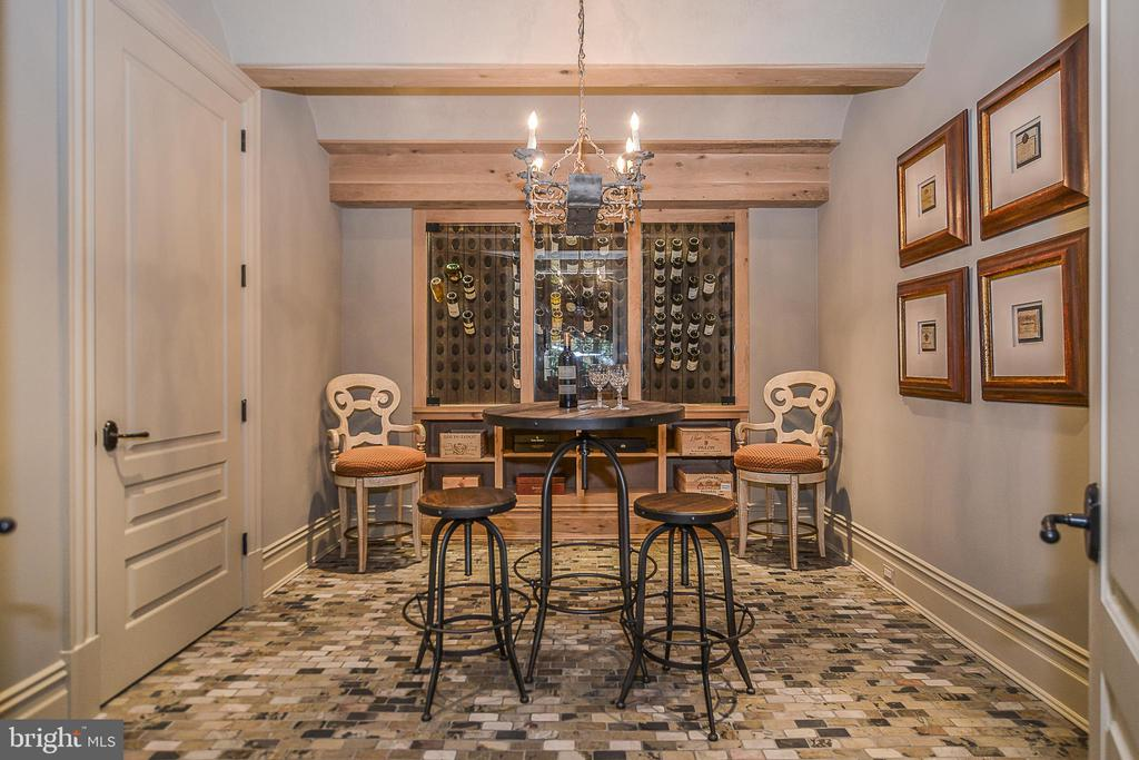 Temperature controlled Wine Grotto w/ Slate Floors - 6126 FRANKLIN PARK RD, MCLEAN