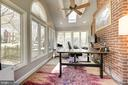 Abundant light, exposed brick in sunroom - 3125 1ST PL N, ARLINGTON