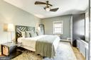 Master bedroom with hardwood floors & ceiling fan - 3125 1ST PL N, ARLINGTON