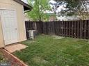 fenced backyard with storage shed - 9 HOWARD PL, STERLING