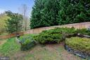 Private fenced in back yard space - 48 SAVANNAH CT, STAFFORD