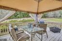 Sit on the new deck and enjoy the privacy - 48 SAVANNAH CT, STAFFORD