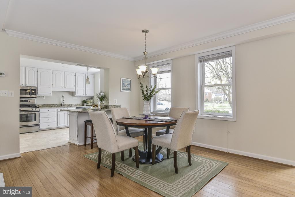 Dining area off kitchen - 5620 INVERCHAPEL RD, SPRINGFIELD