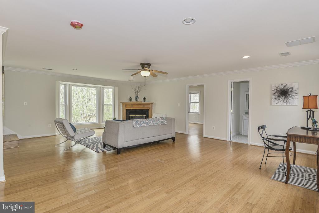 2nd level family room has bamboo flooring - 5620 INVERCHAPEL RD, SPRINGFIELD