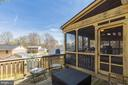 Sun deck and screened porch! - 5304 KAYWOOD CT, FAIRFAX