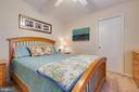 Bedroom 4 with door to Bonus Room - 5304 KAYWOOD CT, FAIRFAX
