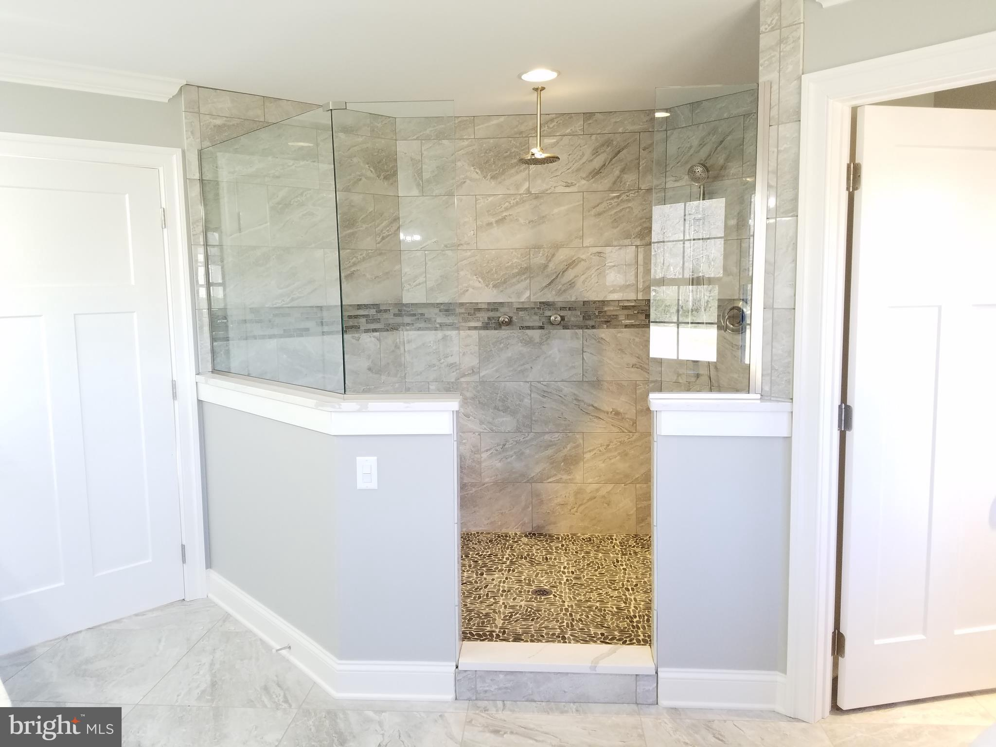 Custom tiled walk-in Master shower!