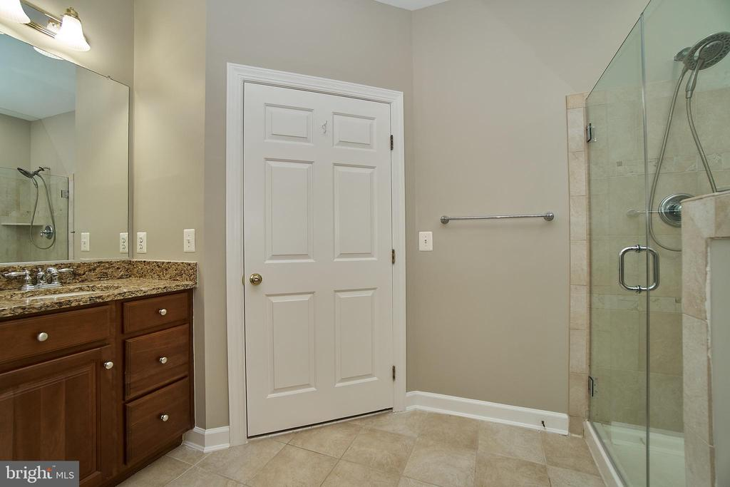 Owners Bathroom with New Frameless  Shower - 47646 MID SURREY SQ, STERLING