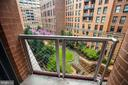 Main Level Balcony Overlooks Quiet, Lush Courtyard - 616 E ST NW #656, WASHINGTON
