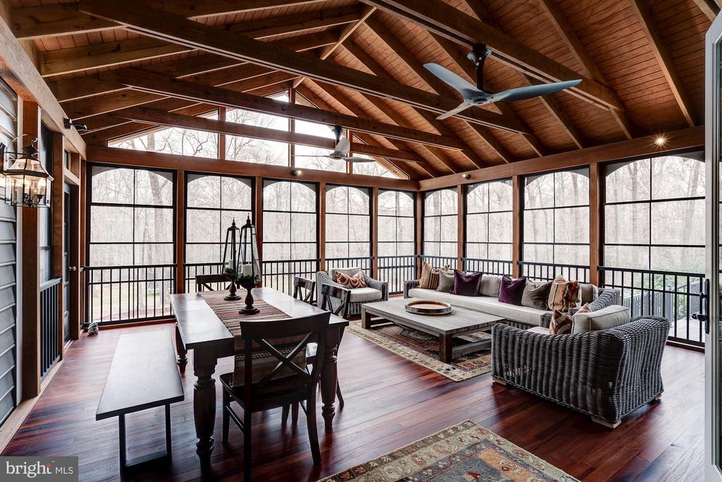 Newly added Sunroom with Mahagony  Floors - 7904 OAKSHIRE LN, FAIRFAX STATION