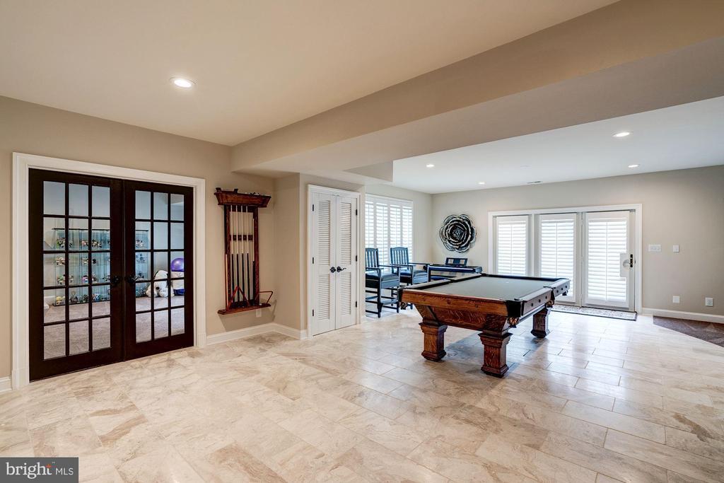 Recreation Room  - New Marble Flooring - 7904 OAKSHIRE LN, FAIRFAX STATION