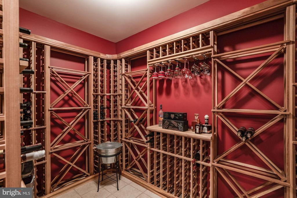 Wine Cellar in Basement - 7904 OAKSHIRE LN, FAIRFAX STATION