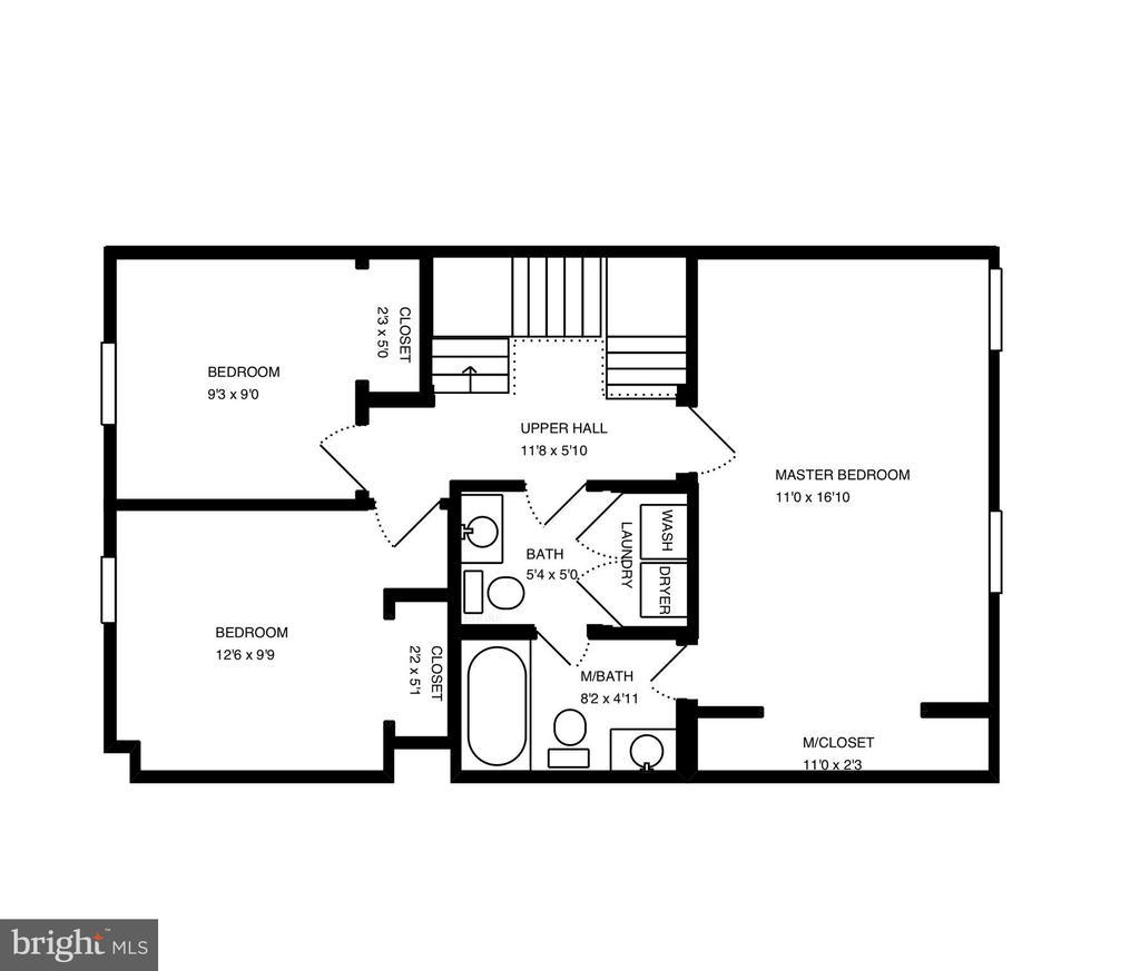 Upper level floor plan - 8021 EDINBURGH DR, SPRINGFIELD