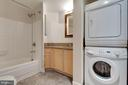 Bathroom with washer/dryer - 2400 CLARENDON BLVD #308, ARLINGTON