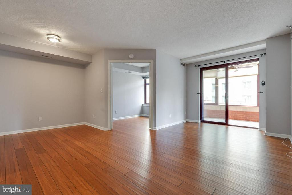 Living/Dining Room with newer beautiful hardwoods - 2400 CLARENDON BLVD #308, ARLINGTON