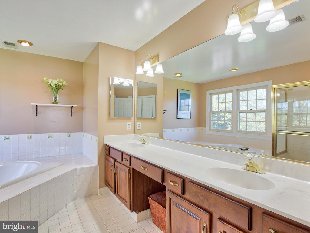 Master bath with double vanity - 20594 BROADNAX PL, ASHBURN