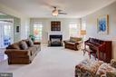 Family room has gas fireplace - 43137 BUTTERFLY WAY, LEESBURG