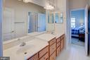 Jack/Jill bath between bedrooms 3 & 4 - 43137 BUTTERFLY WAY, LEESBURG