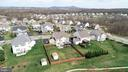 Aerial view of back yard...Sugarloaf Mountain view - 43137 BUTTERFLY WAY, LEESBURG