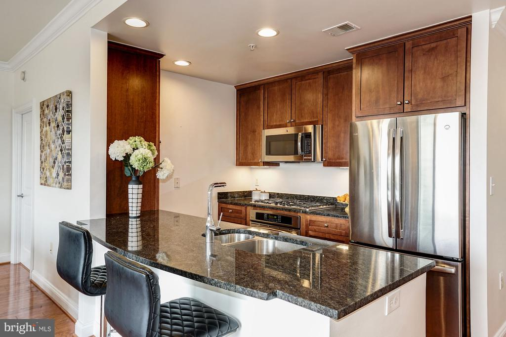 Kitchen with stainless appliances, granite counter - 3625 10TH ST N #602, ARLINGTON