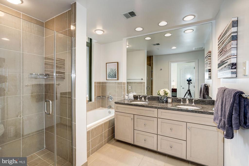 Master bath with cusom tile, granite - 3625 10TH ST N #602, ARLINGTON
