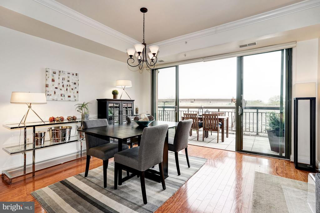 Glass doors open to private terrace - 3625 10TH ST N #602, ARLINGTON