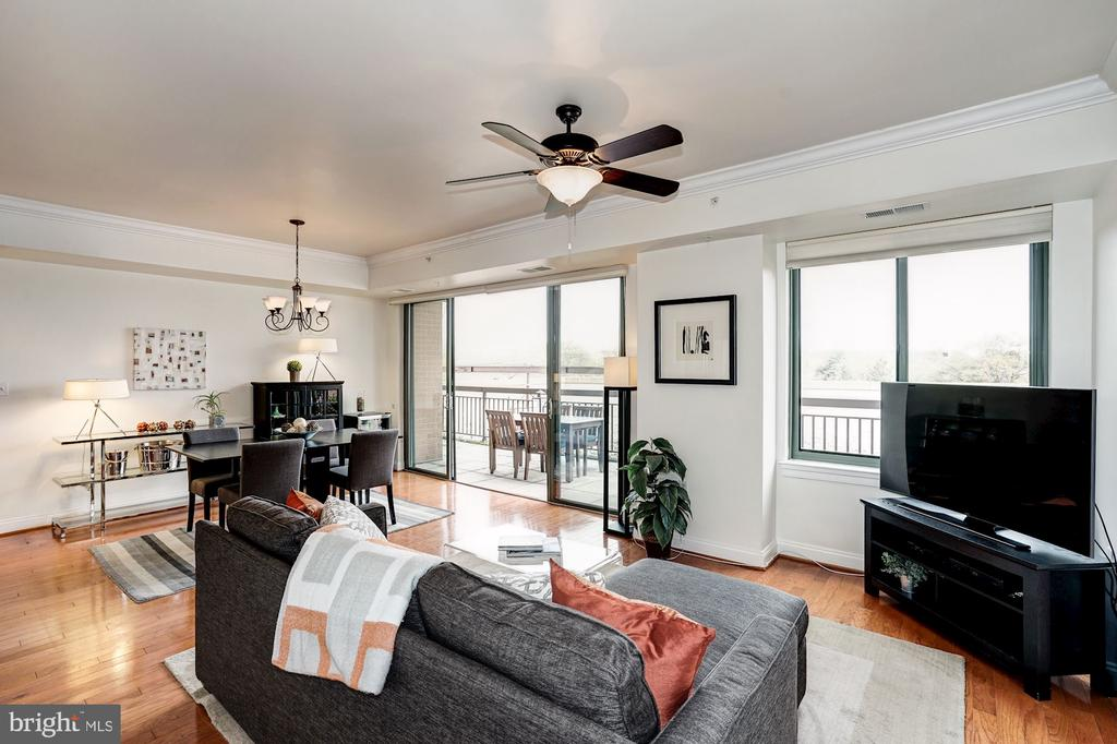 Amazing light in living /dining area - 3625 10TH ST N #602, ARLINGTON