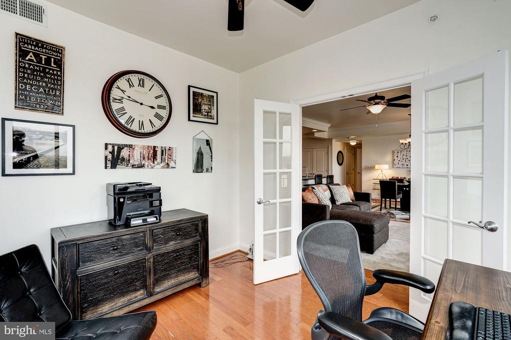 Den off living area through French doors - 3625 10TH ST N #602, ARLINGTON