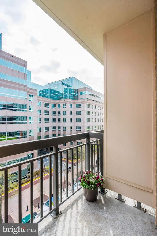 Separate private balcony off master bedroom - 3625 10TH ST N #602, ARLINGTON